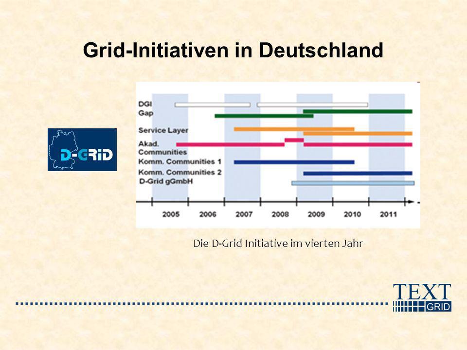 Grid-Initiativen in Deutschland Die D-Grid Initiative im vierten Jahr