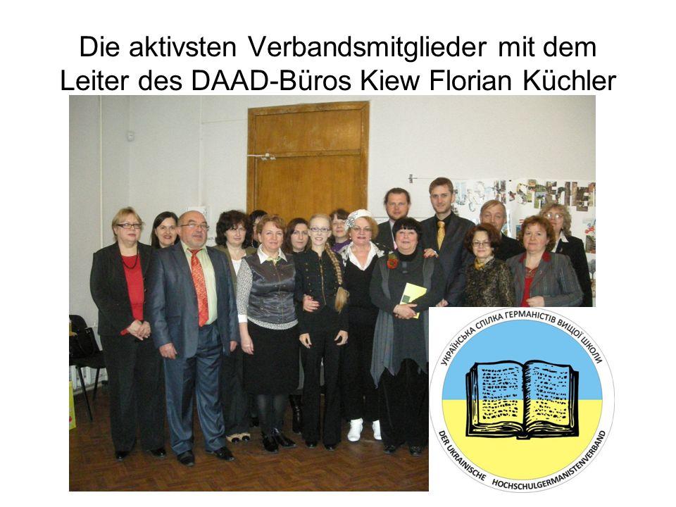 Die aktivsten Verbandsmitglieder mit dem Leiter des DAAD-Büros Kiew Florian Küchler