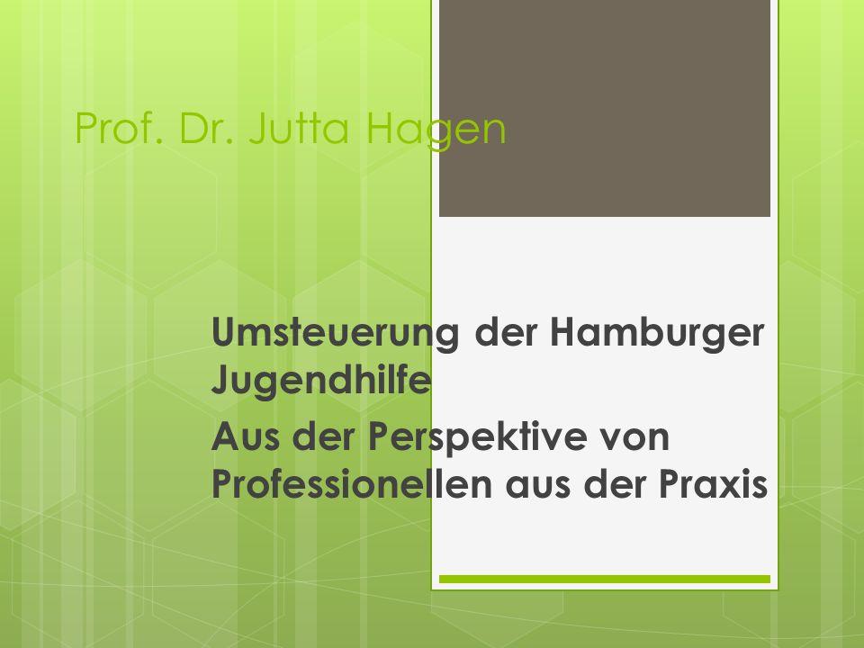 Prof. Dr. Jutta Hagen Umsteuerung der Hamburger Jugendhilfe Aus der Perspektive von Professionellen aus der Praxis