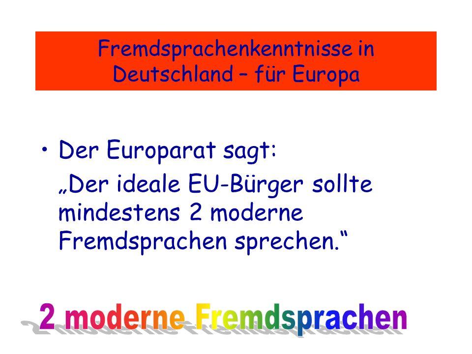 Leben in einem vereinten Europa - ein Leben ohne Französischkenntnisse.