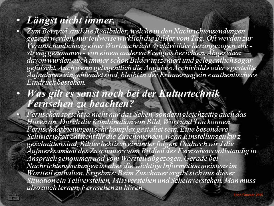 Erich Pammer, 2005 Längst nicht immer.