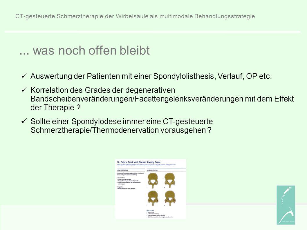 CT-gesteuerte Schmerztherapie der Wirbelsäule als multimodale Behandlungsstrategie...