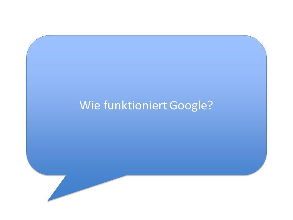 Wie funktioniert Google?