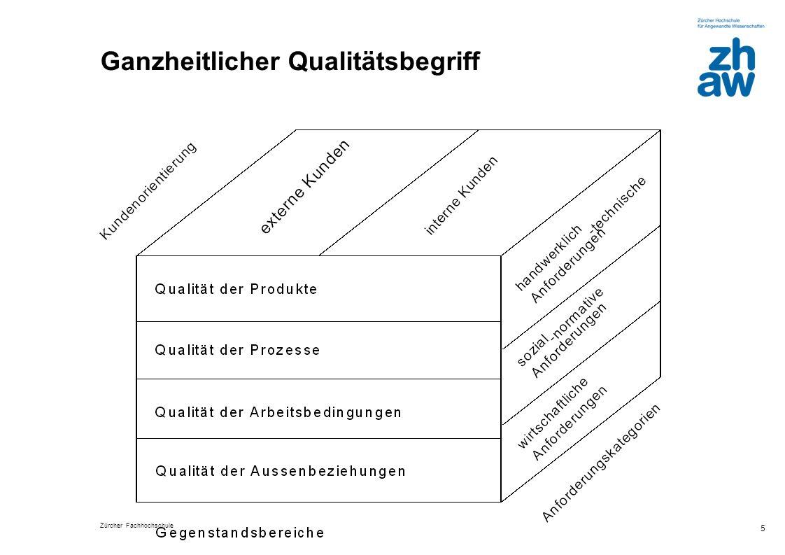 Zürcher Fachhochschule 5 Ganzheitlicher Qualitätsbegriff