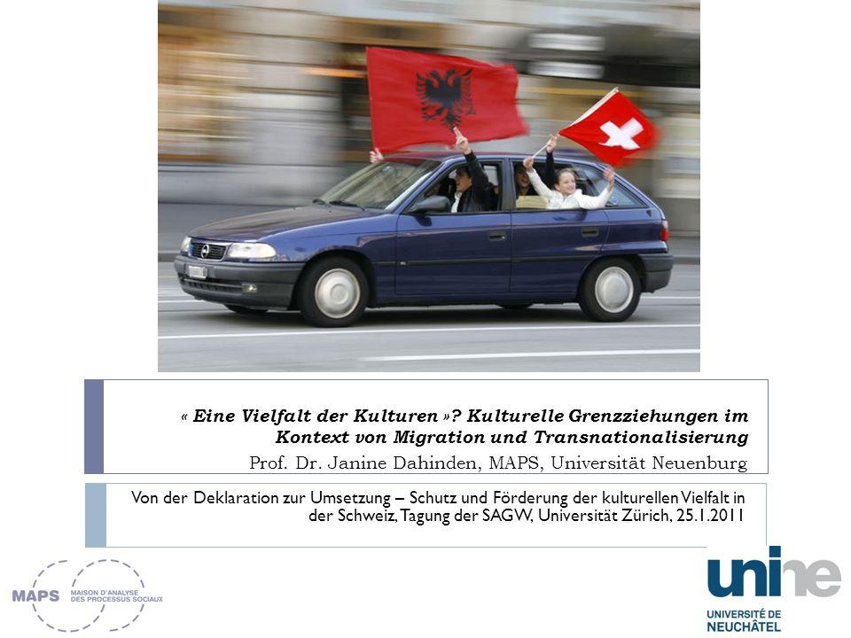« Culturespeak » (Ulf Hannerz) als Zeitgeist everyone is into culture now (Adam Kuper 1999) Vortrag Integration der MigrantInnen und Kultur resp.