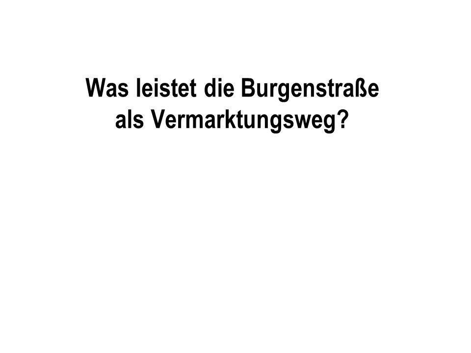 Was leistet die Burgenstraße als Vermarktungsweg?