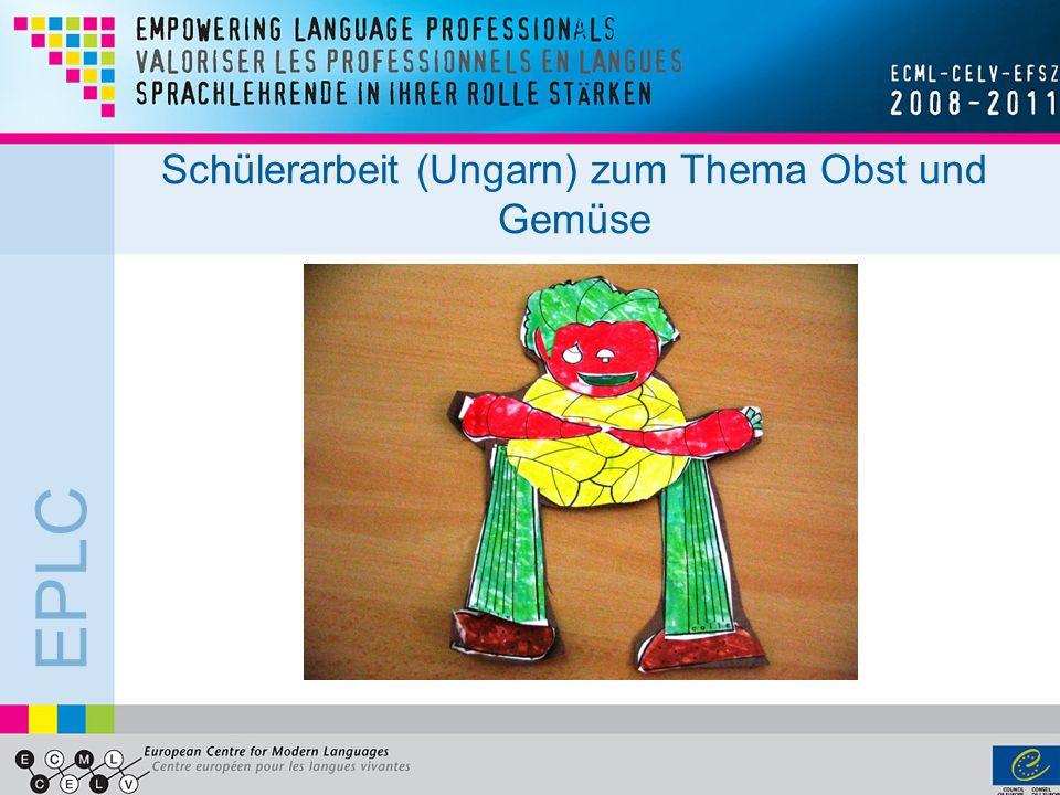 EPLC Schülerarbeit (Ungarn) zum Thema Obst und Gemüse