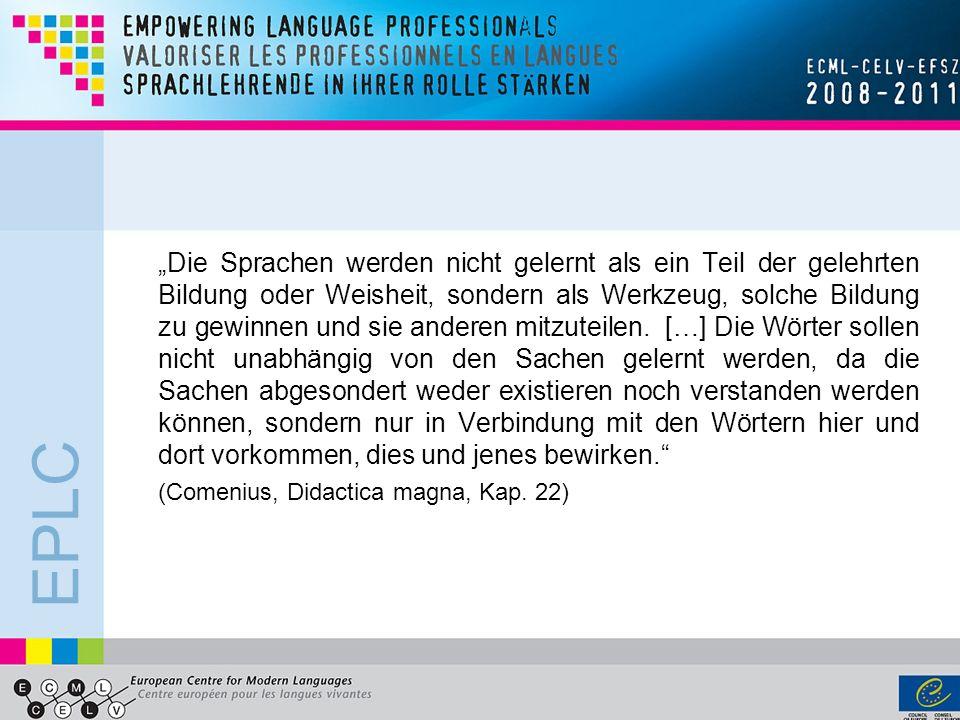 EPLC Gründe für inhaltsorientiertes Fremdsprachenlernen in der Grundschule.