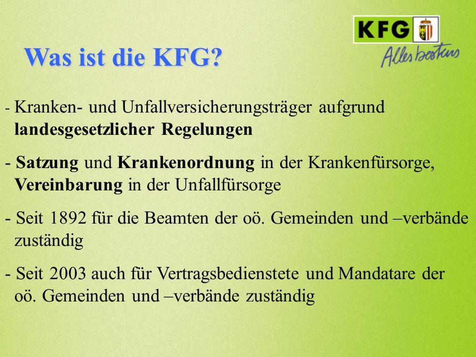 Was ist die KFG? - Kranken- und Unfallversicherungsträger aufgrund landesgesetzlicher Regelungen - Satzung und Krankenordnung in der Krankenfürsorge,