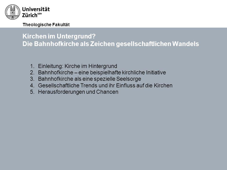 Theologische Fakultät Kirchen im Untergrund.