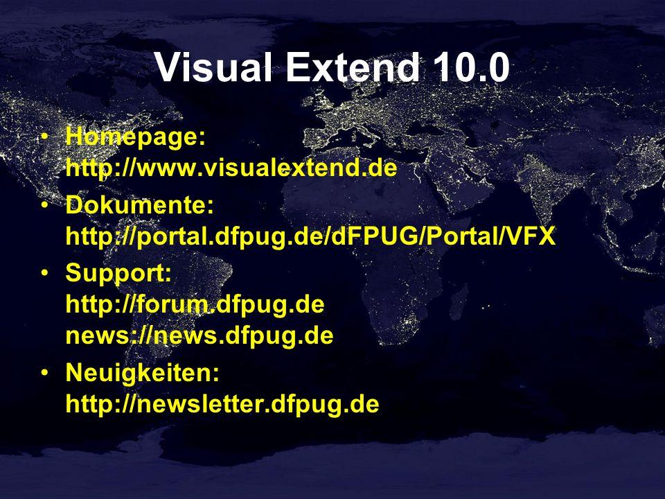 VFX – Manage Config.vfx Datenzugriff verwalten Mandantenauswahldialog für Endkunden Kompatibel zu Vfxpath Umschalten zwischen DBC und SQL Verwendung von ConnectionString empfehlenswert cConfigPassword – Kennwort für die Verschlüsselung der Datei Config.vfx