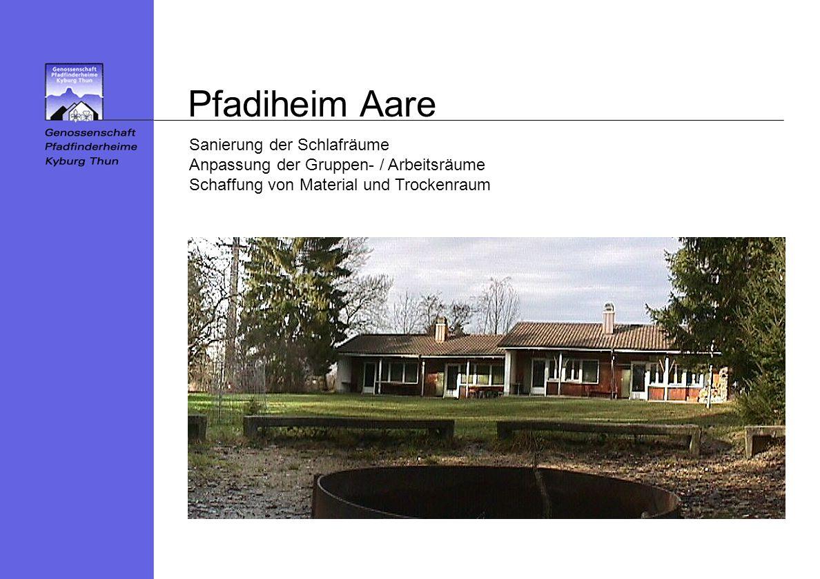Pfadiheim Aare Sanierung der Schlafräume Anpassung der Gruppen- / Arbeitsräume Schaffung von Material und Trockenraum