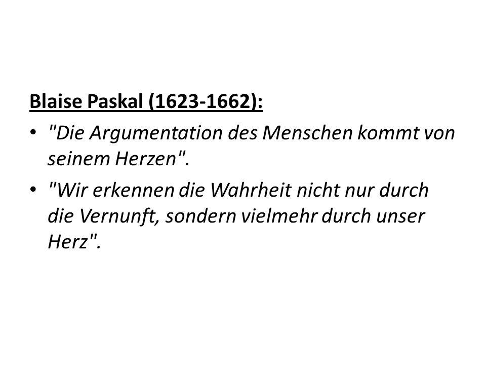 Blaise Paskal (1623-1662):
