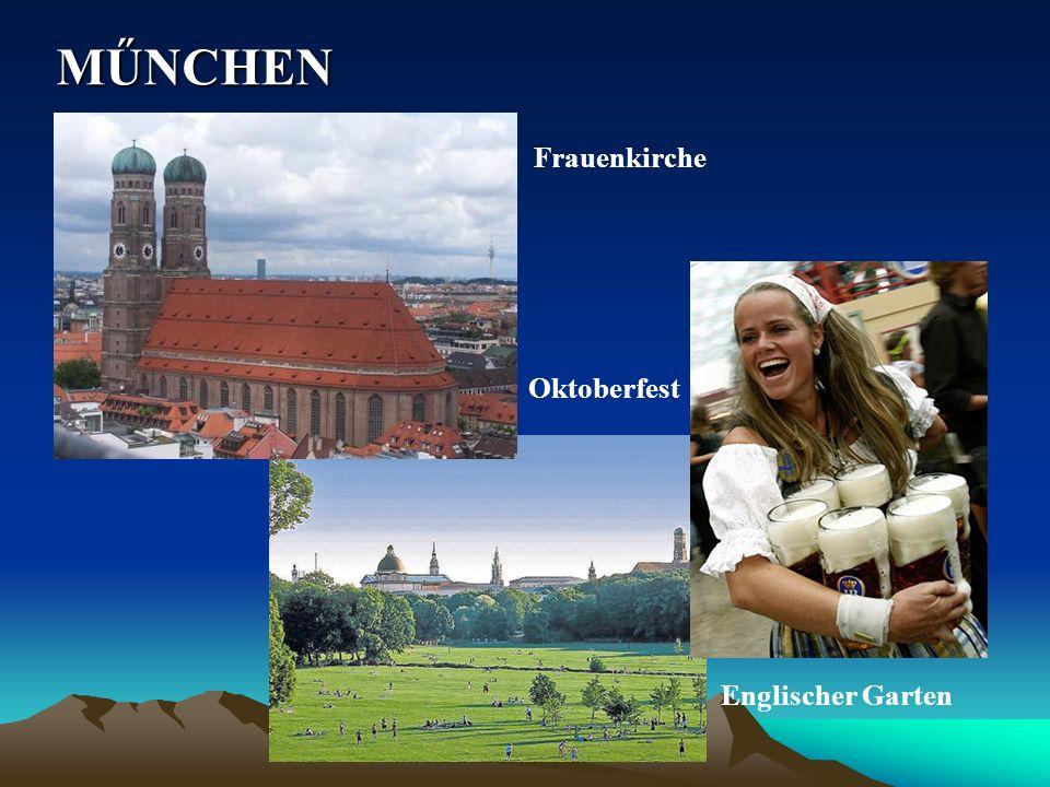 MŰNCHEN Frauenkirche Oktoberfest Englischer Garten