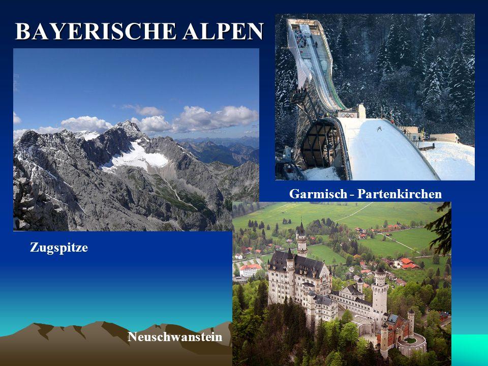 BAYERISCHE ALPEN Garmisch - Partenkirchen Zugspitze Neuschwanstein