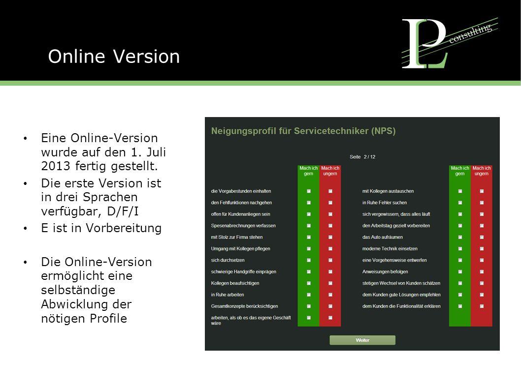 Online Version Eine Online-Version wurde auf den 1.