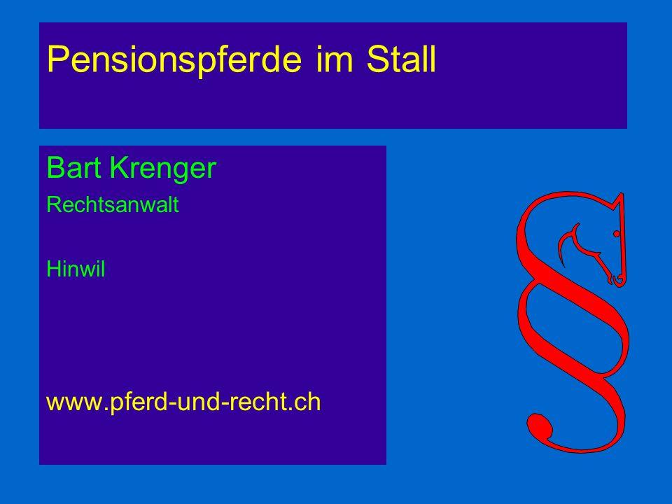 Pensionspferde im Stall Bart Krenger Rechtsanwalt Hinwil. www.pferd-und-recht.ch