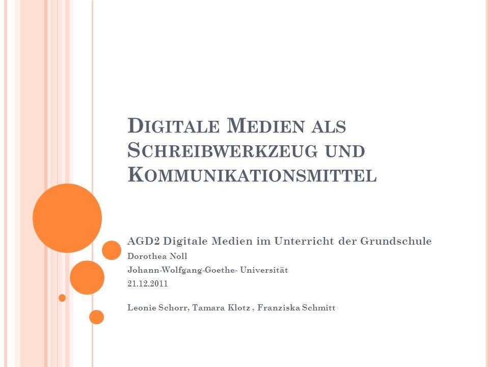 2.3 M AUSWIESEL Lernplattform selbständiges entdeckendes Lernen 12 Digitale Medien in der Grundschule