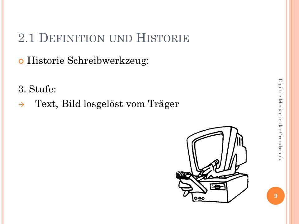 2.1 D EFINITION UND H ISTORIE Historie Schreibwerkzeug: 3.