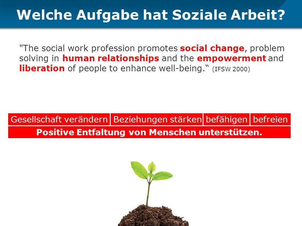 Welche Aufgabe hat Soziale Arbeit?