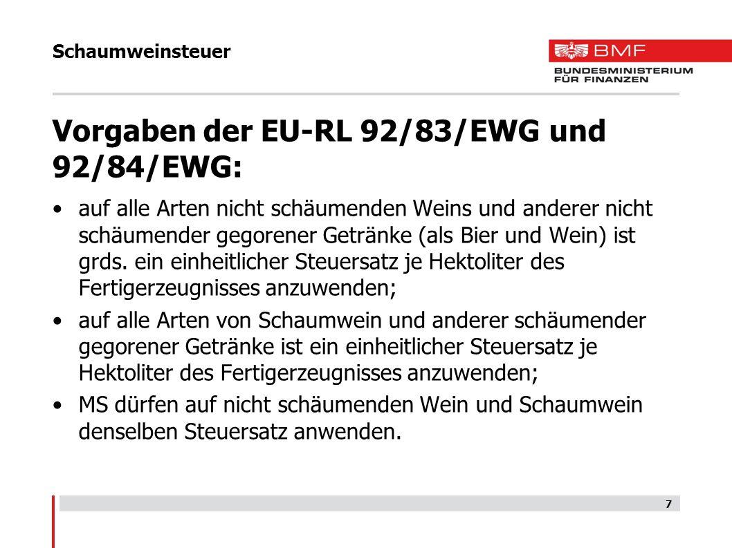 Zwischenerzeugnissteuer Steuergegenstand Der Zwischenerzeugnissteuer unterliegen Zwischenerzeugnisse, die in Österreich hergestellt oder aus einem anderen EU-Mitgliedstaat oder einem Drittland nach Österreich eingeführt werden.