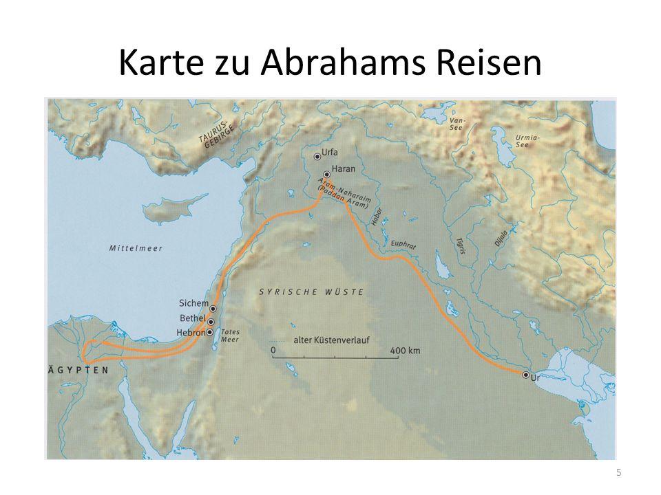 Karte zu Abrahams Reisen 5