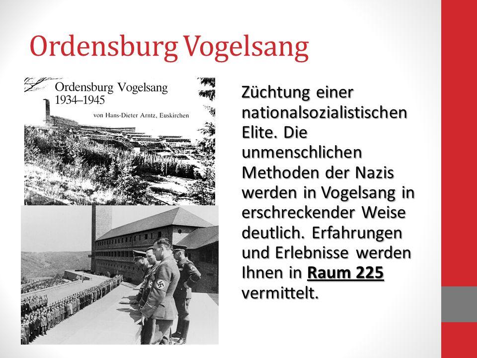 Ordensburg Vogelsang Züchtung einer nationalsozialistischen Elite. Die unmenschlichen Methoden der Nazis werden in Vogelsang in erschreckender Weise d