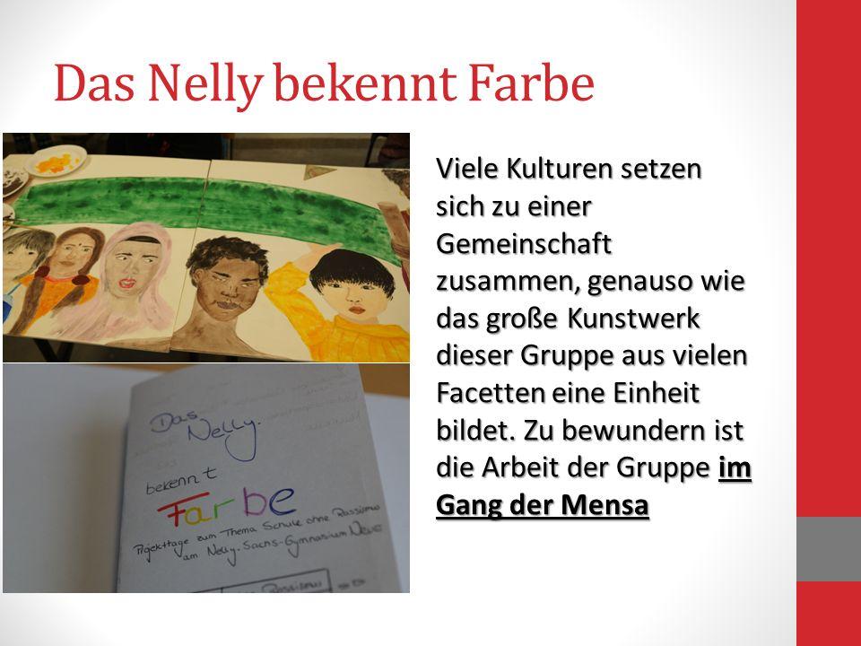Das Nelly bekennt Farbe Viele Kulturen setzen sich zu einer Gemeinschaft zusammen, genauso wie das große Kunstwerk dieser Gruppe aus vielen Facetten e