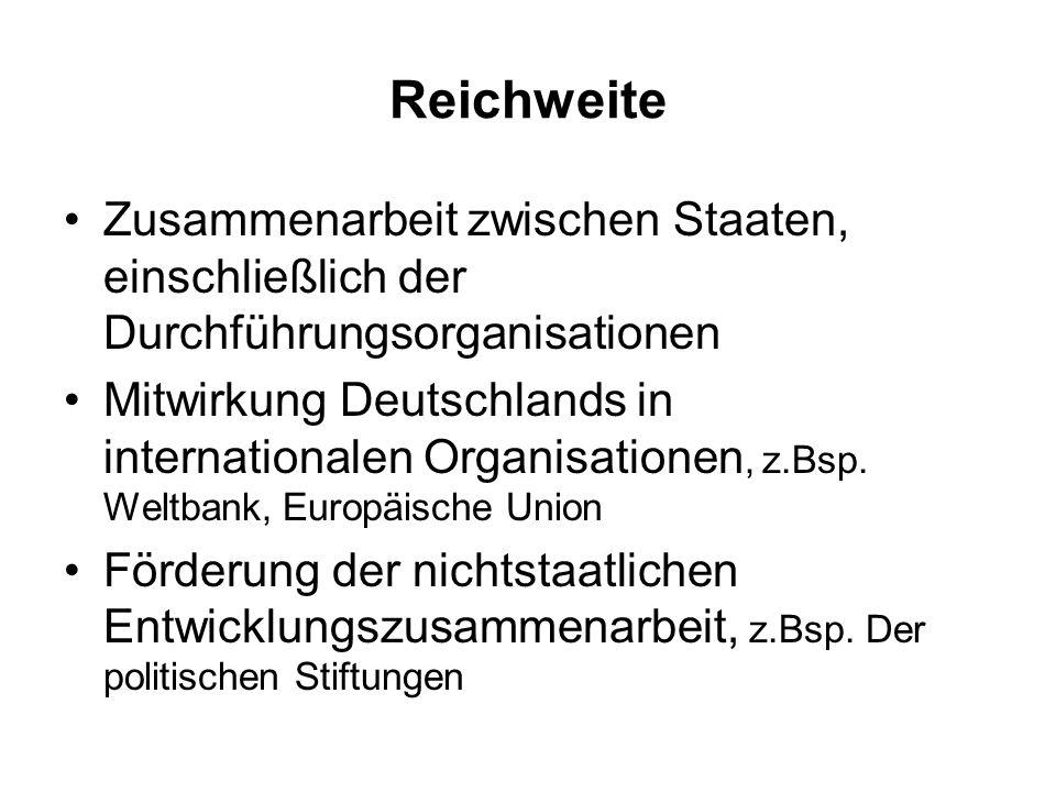 Reichweite Zusammenarbeit zwischen Staaten, einschließlich der Durchführungsorganisationen Mitwirkung Deutschlands in internationalen Organisationen,