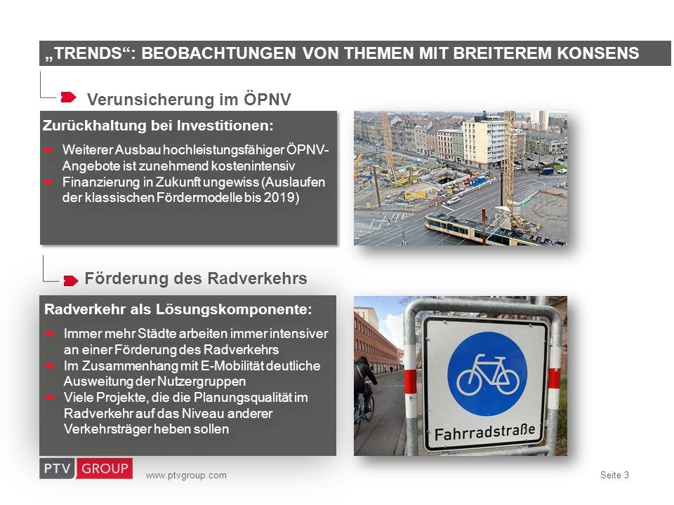 www.ptvgroup.com Seite 4 Wirtschaftsverkehr: Vernachlässigter Wachstumssektor im Verkehr Intelligente Lenkung des Lkw-Verkehrs (z.B.