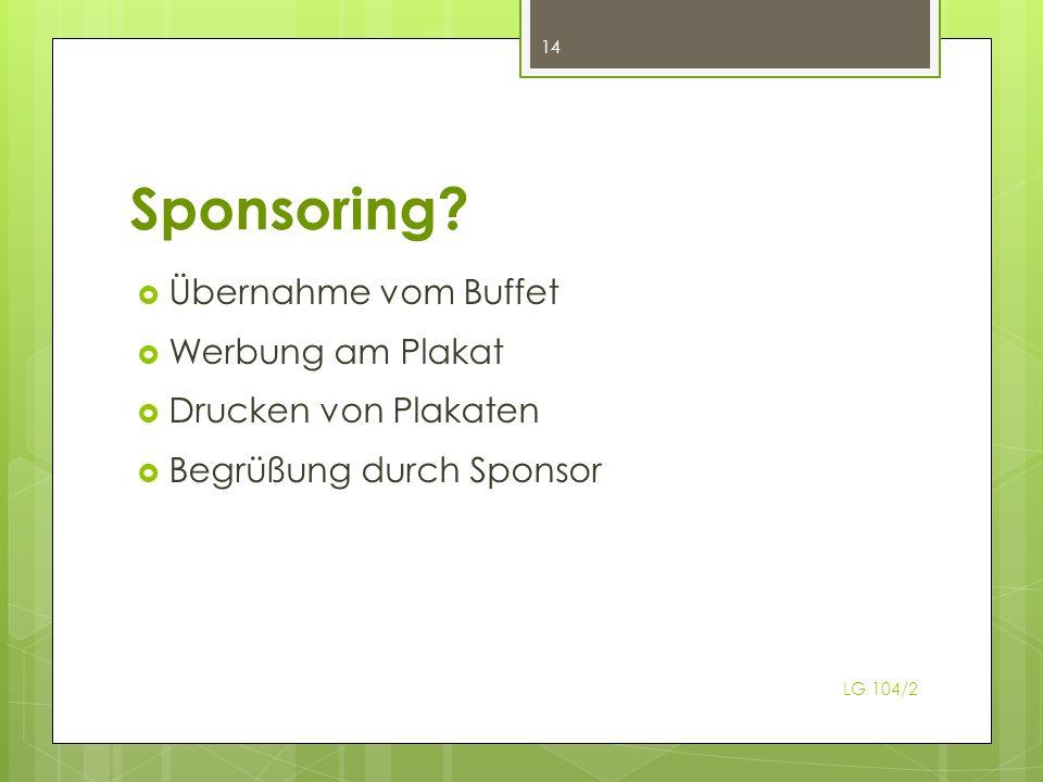 Sponsoring.