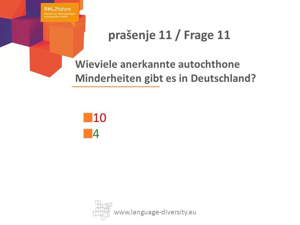 Wieviele anerkannte autochthone Minderheiten gibt es in Deutschland.