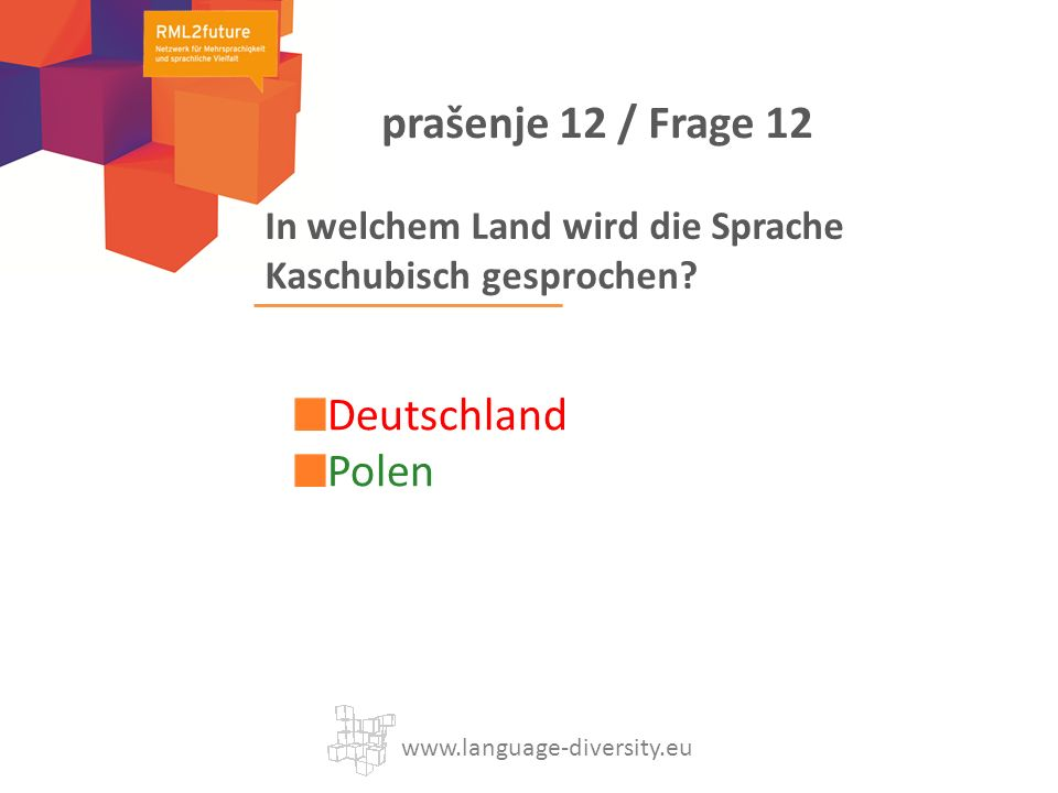 In welchem Land wird die Sprache Kaschubisch gesprochen.
