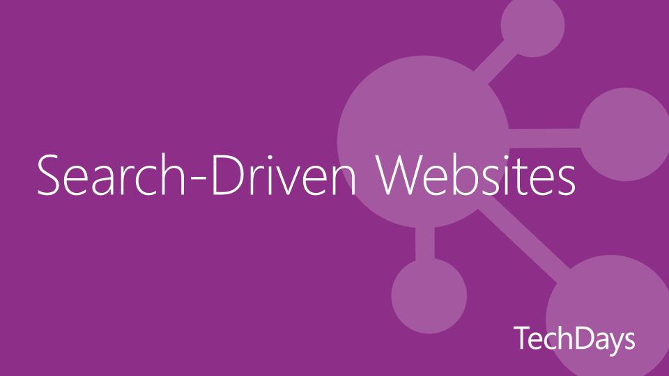 Search-Driven Websites