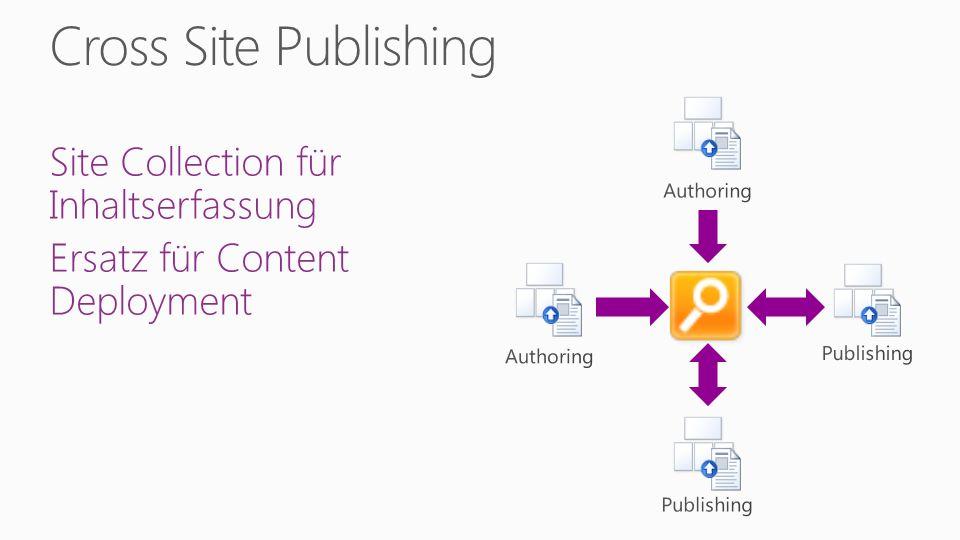 Site Collection für Inhaltserfassung Ersatz für Content Deployment
