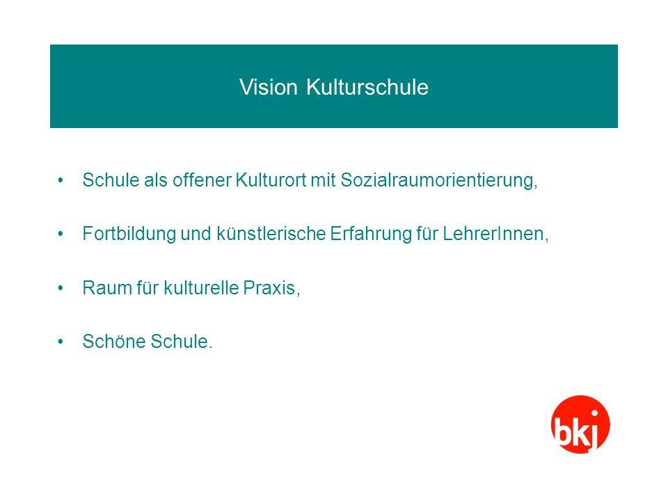 Vision Kulturschule Schule als offener Kulturort mit Sozialraumorientierung, Fortbildung und künstlerische Erfahrung für LehrerInnen, Raum für kulture