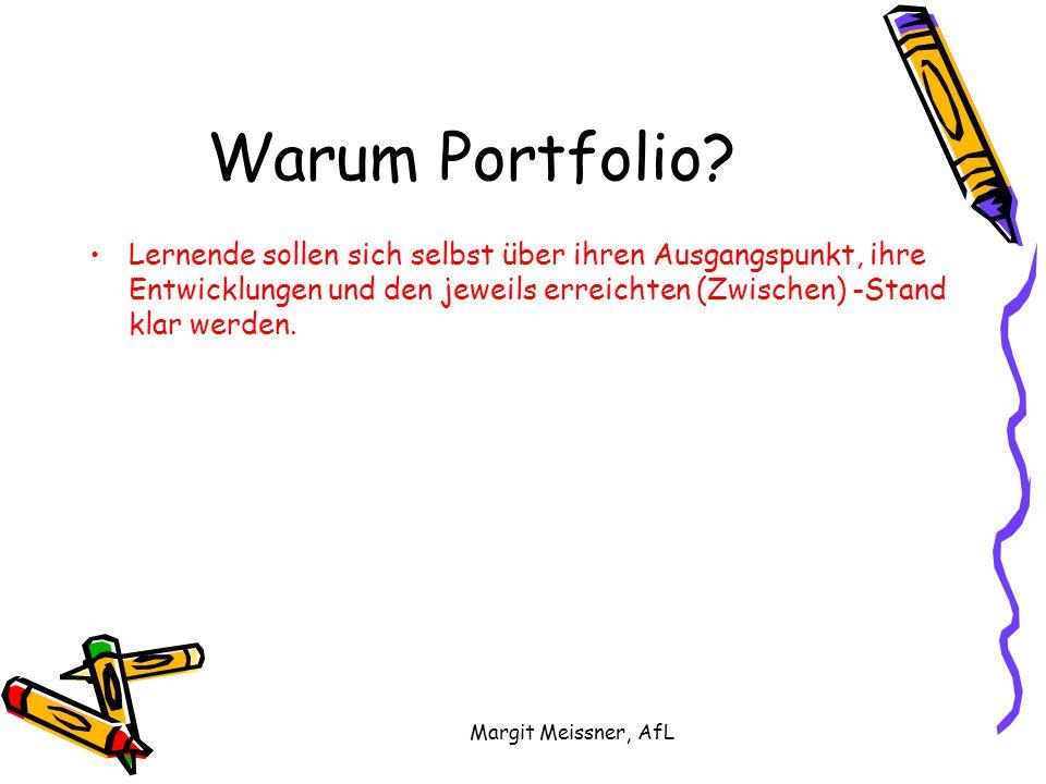 Margit Meissner, AfL Warum Portfolio.