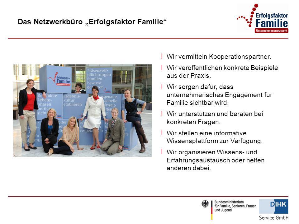 Das Netzwerkbüro Erfolgsfaktor Familie ׀ Wir vermitteln Kooperationspartner.