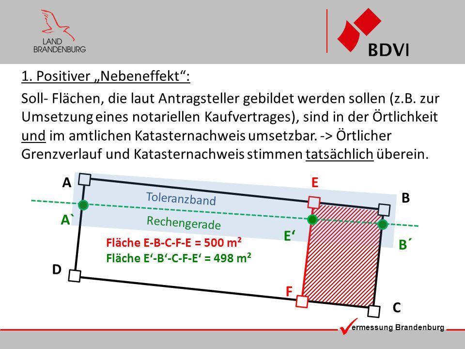ermessung Brandenburg 1. Positiver Nebeneffekt: Soll- Flächen, die laut Antragsteller gebildet werden sollen (z.B. zur Umsetzung eines notariellen Kau