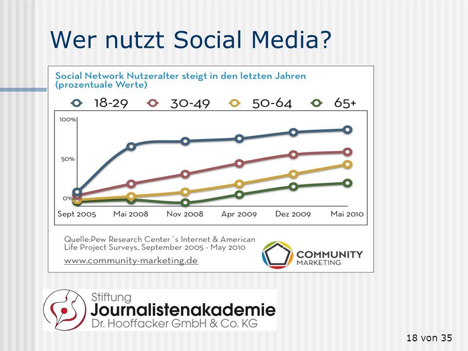 18 von 35 Wer nutzt Social Media?
