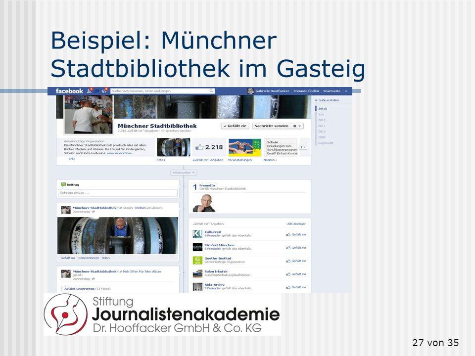 27 von 35 Beispiel: Münchner Stadtbibliothek im Gasteig