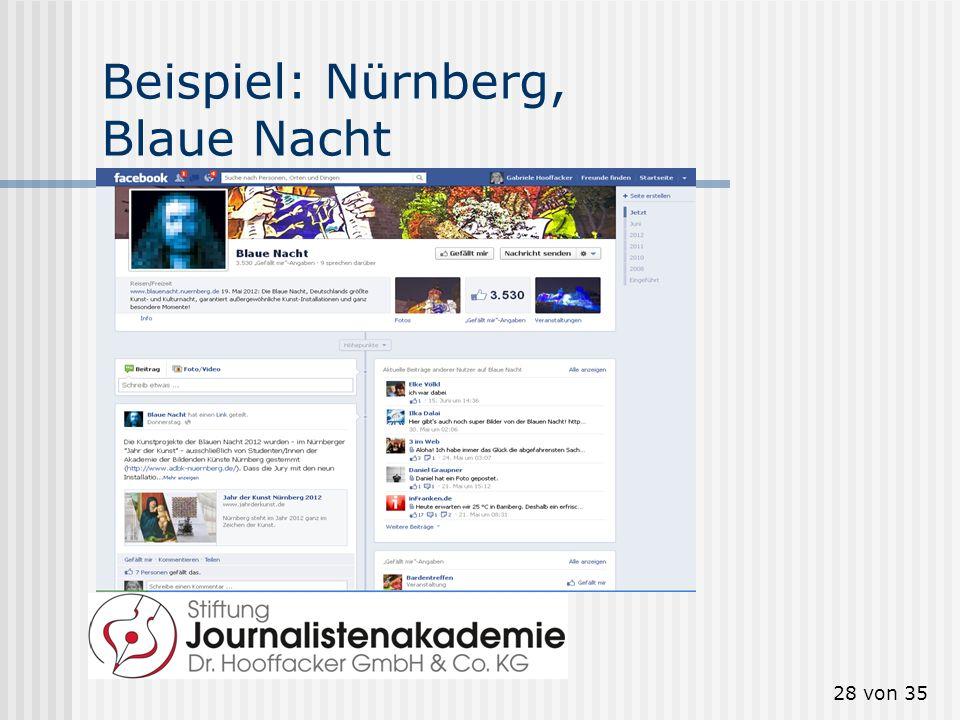 28 von 35 Beispiel: Nürnberg, Blaue Nacht