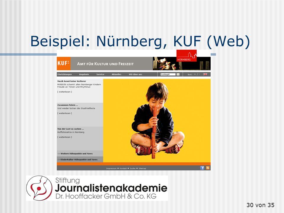 30 von 35 Beispiel: Nürnberg, KUF (Web)