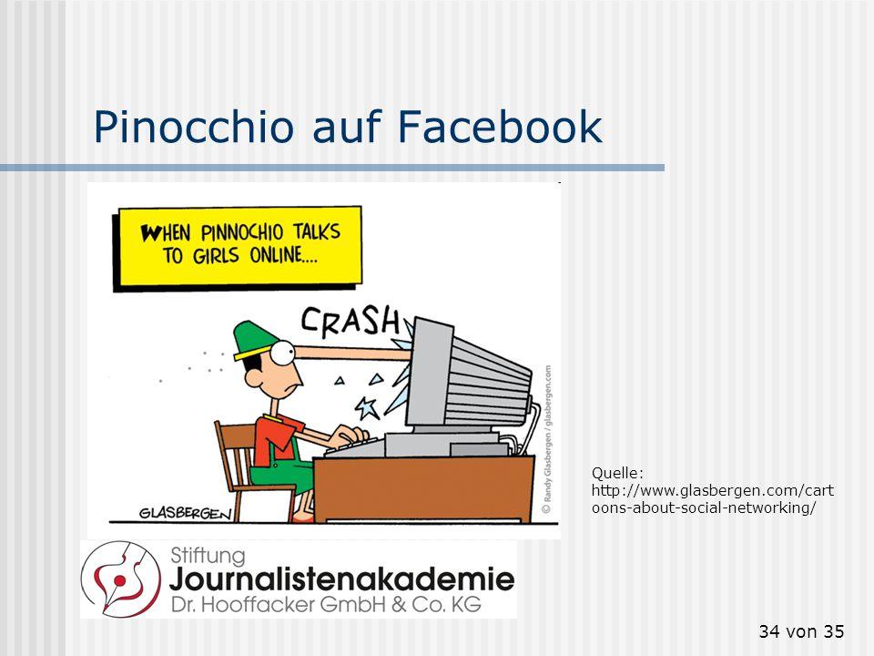 34 von 35 Pinocchio auf Facebook Quelle: http://www.glasbergen.com/cart oons-about-social-networking/