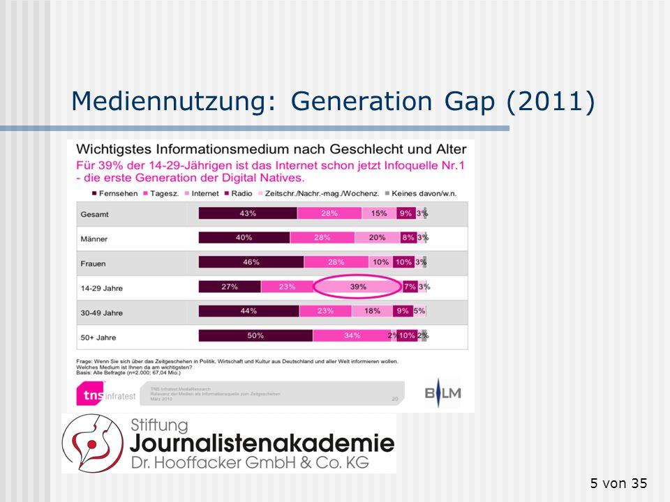 5 von 35 Mediennutzung: Generation Gap (2011)