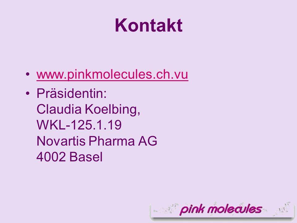 www.pinkmolecules.ch.vu Präsidentin: Claudia Koelbing, WKL-125.1.19 Novartis Pharma AG 4002 Basel Kontakt