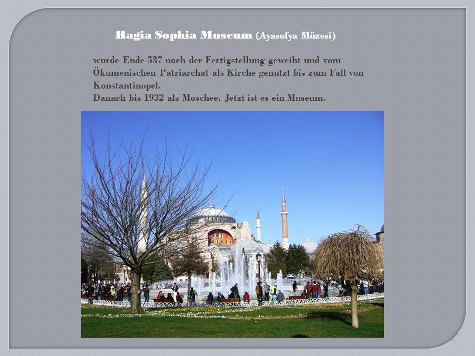 Blick vom Topkapi Palast auf Istanbul