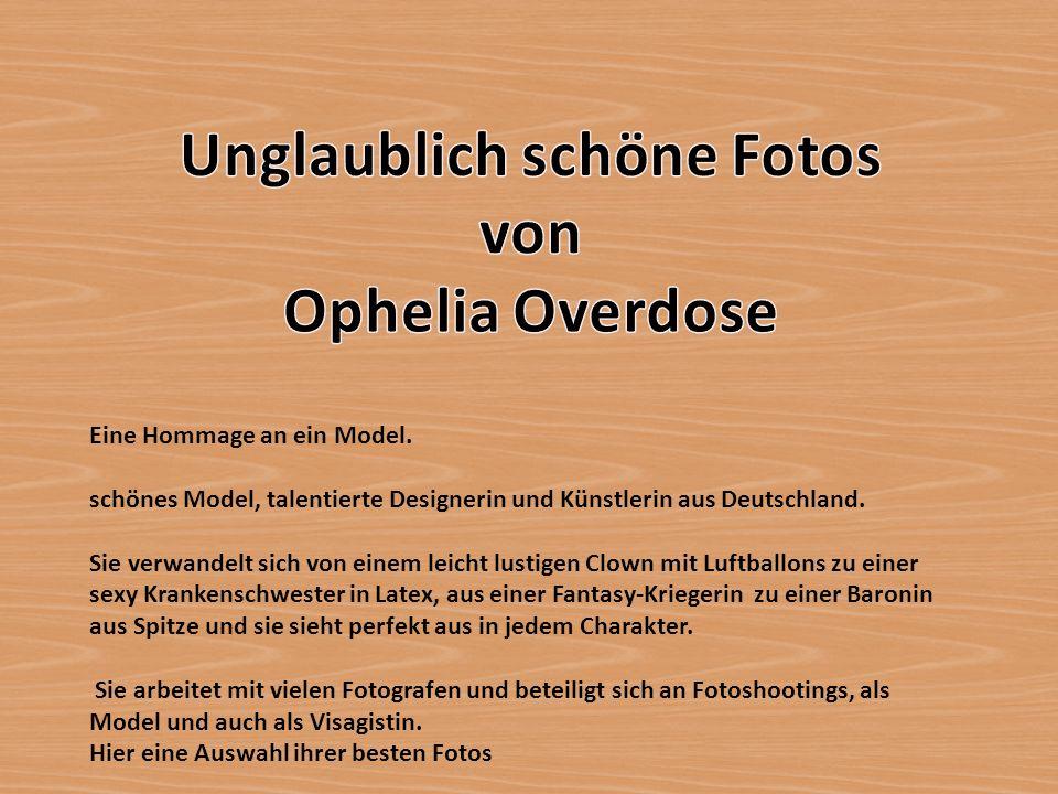 Eine Hommage an ein Model. schönes Model, talentierte Designerin und Künstlerin aus Deutschland. Sie verwandelt sich von einem leicht lustigen Clown m