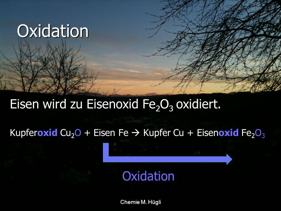 Oxidation Wird ein Metall mit Sauerstoff O 2 verbunden, so wird das Metall oxidiert.