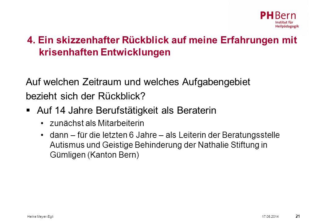17.05.2014Heike Meyer-Egli 21 4.